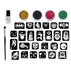 Glitter Tattoo Kit - Stories Kit for Boys- CsillámVilág