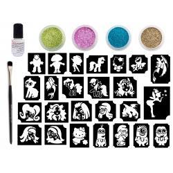 Glitter Tattoo Kit - Stories Kit for Girls - CsillámVilág
