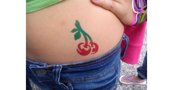 Cherri Glitter Tattoo Stencils