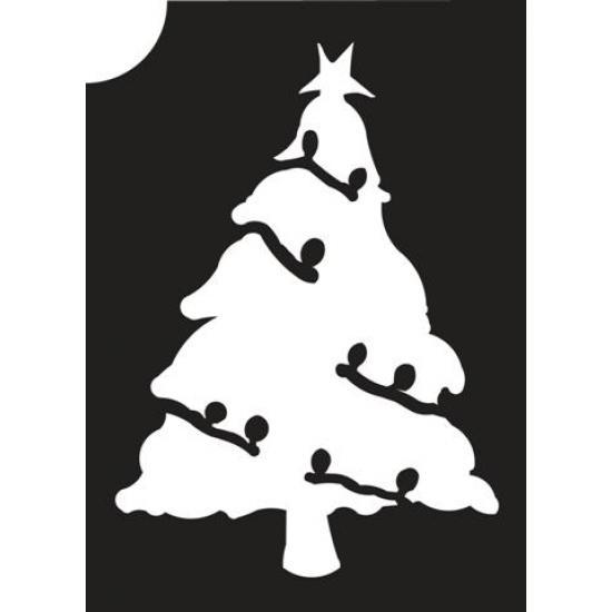 Christmas Tree 01 Glitter Tattoo Stencil
