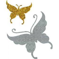 Butterfly 07 glitter tattoo stencil
